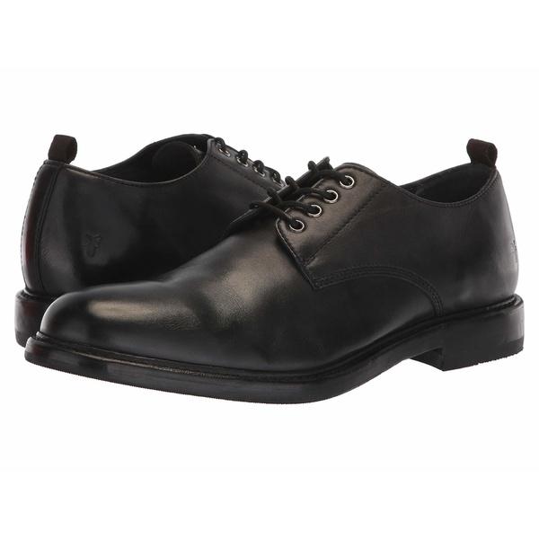 フライ メンズ ドレスシューズ シューズ Murray Oxford Black Washed Dip-Dye Leather