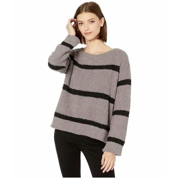 ビービーダコタ レディース ニット&セーター アウター Chenille Deal Fuzzy Chenille Stripe Sweater Medium Grey