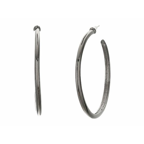 ケネスジェイレーン レディース ピアス&イヤリング アクセサリー Polished Gunmetal Hoop Pierced Earrings Gunmetal