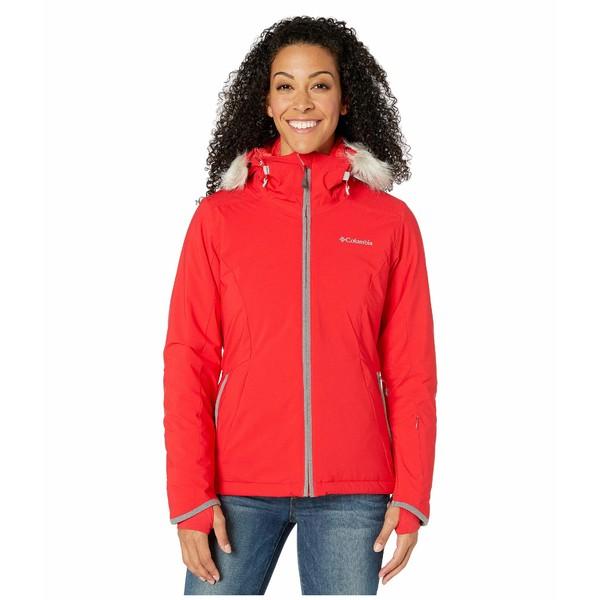コロンビア レディース コート アウター Alpine Slide Jacket Red Lily/City Grey Heather