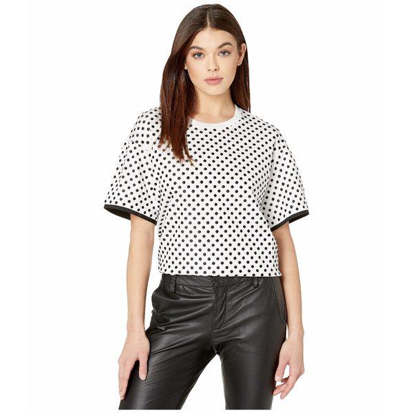スポーツマックス レディース シャツ トップス Code Giano Polka Dot T-Shirt White
