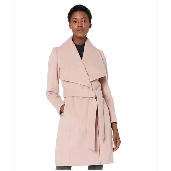 コールハーン レディース コート アウター Slick Wool Wrap Coat w/ Exaggerated Collar Dusty Rose