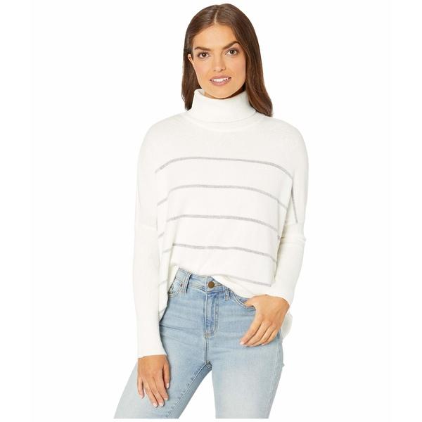 カップケーキアンドカシミア レディース ニット&セーター アウター Sydney Metallic Striped Turtleneck Dolman Sweater Ivory
