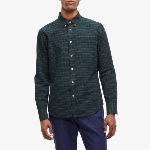 ラグアンドボーン メンズ シャツ トップス Fit 2 Tomlin Oxford Shirt Black/Green