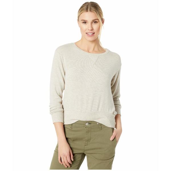 スリードッツ レディース ニット&セーター アウター Brush Sweater w/ Rib Oatmeal