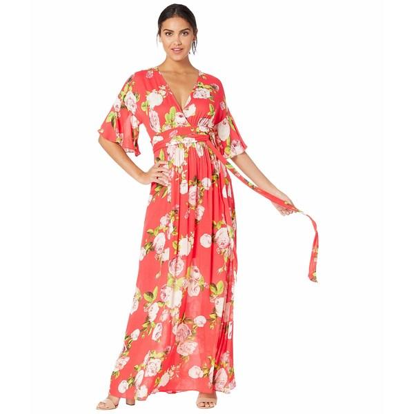 ビーシービージーマックスアズリア レディース ワンピース トップス Floral Maxi Dress Scarlet Rose Bloom