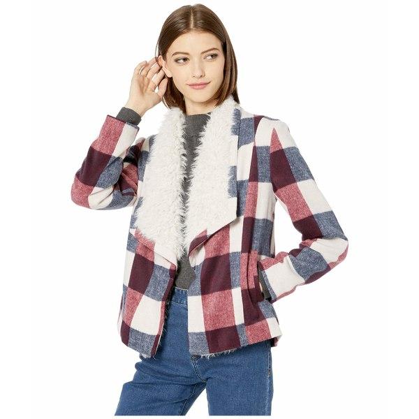 ジャック バイ ビービーダコタ レディース コート アウター Square It Well Brushed Plaid Jacket with Faux Fur Shearling Ivory