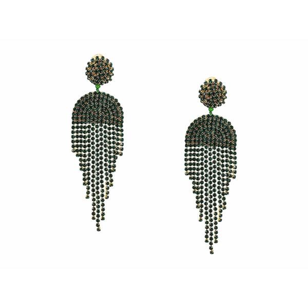 オスカー デ ラ レンタ レディース ピアス&イヤリング アクセサリー Waterfall Earrings Emerald