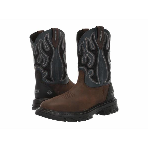 ウルヴァリン メンズ ブーツ&レインブーツ シューズ Ranch King - Composite Toe Brown/Blue