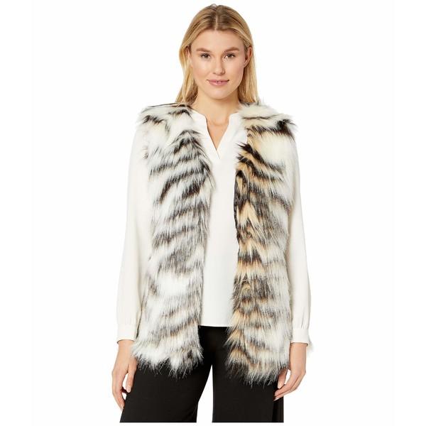 ヴィアスピガ レディース コート アウター Multi Faux Fur Vest Black Zebra
