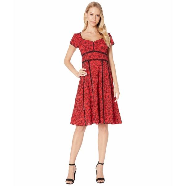 ナネットレポー レディース ワンピース トップス Embroidered Dress Red Multi