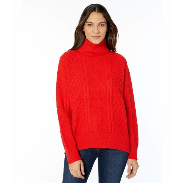 ウミーユアムーム レディース ニット&セーター アウター Farren Turtleneck Sweater Red Holly Cable Knit