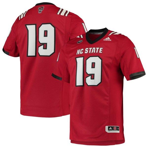 アディダス メンズ ユニフォーム トップス NC State Wolfpack adidas Team Premier Football Jersey White
