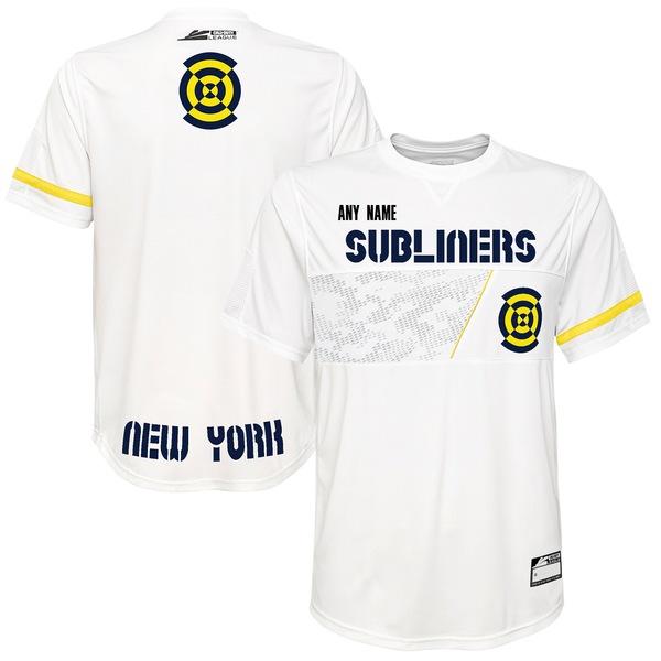 アウタースタッフ メンズ ユニフォーム トップス New York Subliners Personalized Home Jersey White