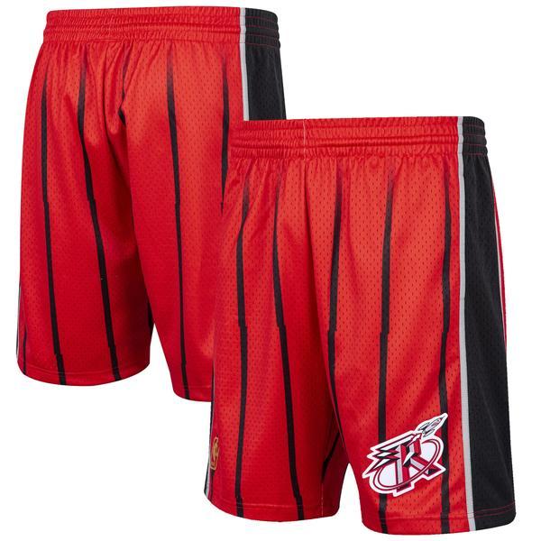 ミッチェル&ネス メンズ ハーフ&ショーツ ボトムス Houston Rockets Mitchell & Ness Hardwood Classic Reload Swingman Shorts Red