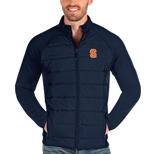 アンティグア メンズ ジャケット&ブルゾン アウター Syracuse Orange Antigua Altitude Full-Zip Jacket Navy