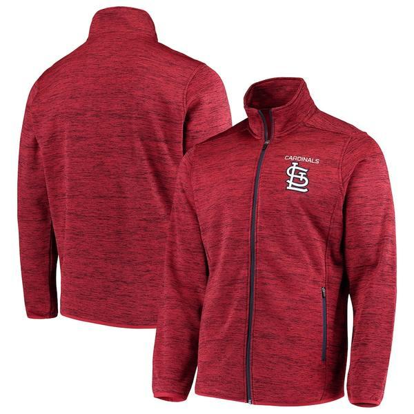 カールバンクス メンズ ジャケット&ブルゾン アウター St. Louis Cardinals G-III Sports by Carl Banks High Jump Transitional Full-Zip Jacket Red