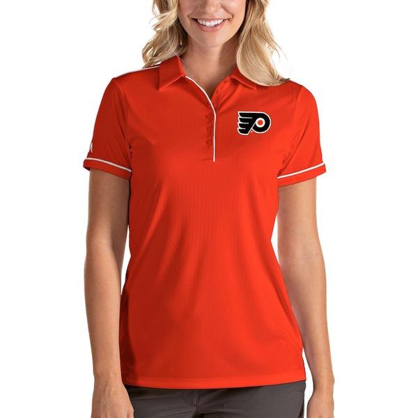 アンティグア レディース ポロシャツ トップス Philadelphia Flyers Antigua Women's Salute Polo Orange/White