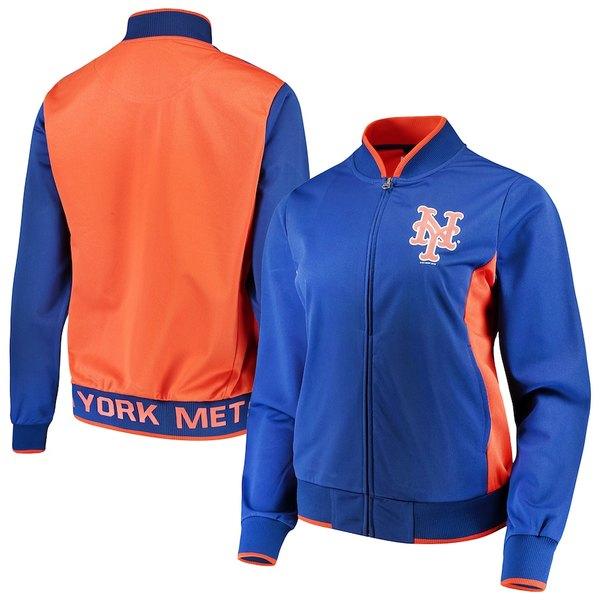 カールバンクス レディース ジャケット&ブルゾン アウター New York Mets G-III 4Her by Carl Banks Women's Triple Track Jacket Royal/Orange