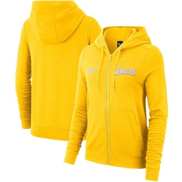 ナイキ レディース ジャケット&ブルゾン アウター Los Angeles Lakers Nike Women's 2019/20 City Edition Full-Zip Hoodie Gold