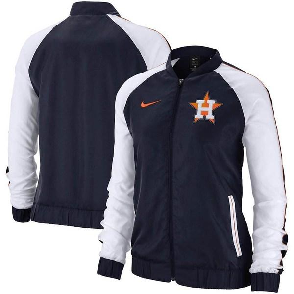 ナイキ レディース ジャケット&ブルゾン アウター Houston Astros Nike Women's Varsity Full-Zip Jacket Navy