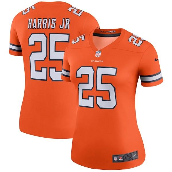 ナイキ レディース シャツ トップス Chris Harris Jr Denver Broncos Nike Women's Color Rush Legend Jersey Orange