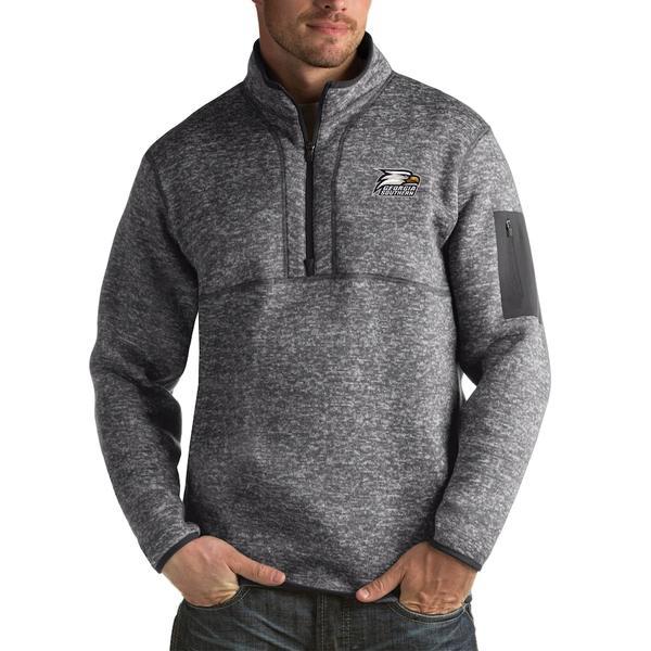 アンティグア メンズ ジャケット&ブルゾン アウター Georgia Southern Eagles Antigua Fortune Big & Tall Quarter-Zip Pullover Jacket Charcoal