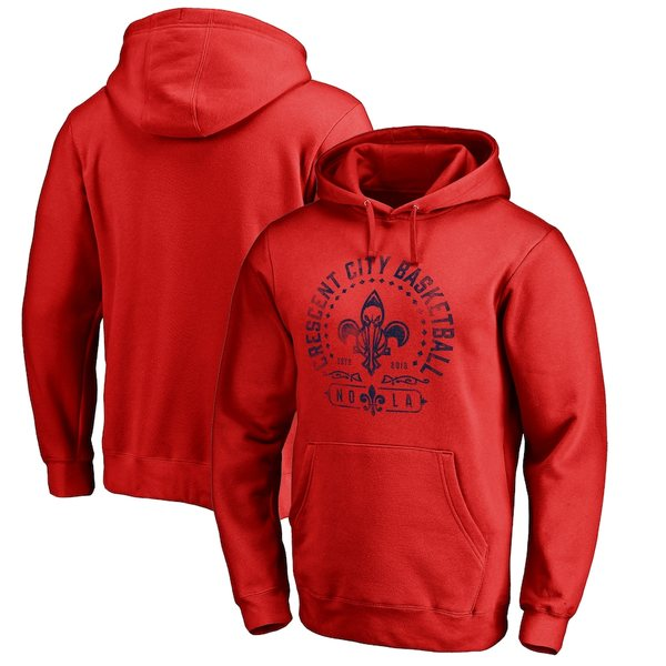 ファナティクス メンズ パーカー・スウェットシャツ アウター New Orleans Pelicans Fanatics Branded Crescent City Hometown Collection Pullover Hoodie Red