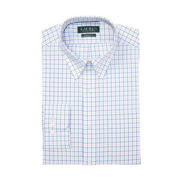 ラルフローレン メンズ シャツ トップス Classic-Fit No-Iron Plaid Cotton Dress Shirt Blue Lime