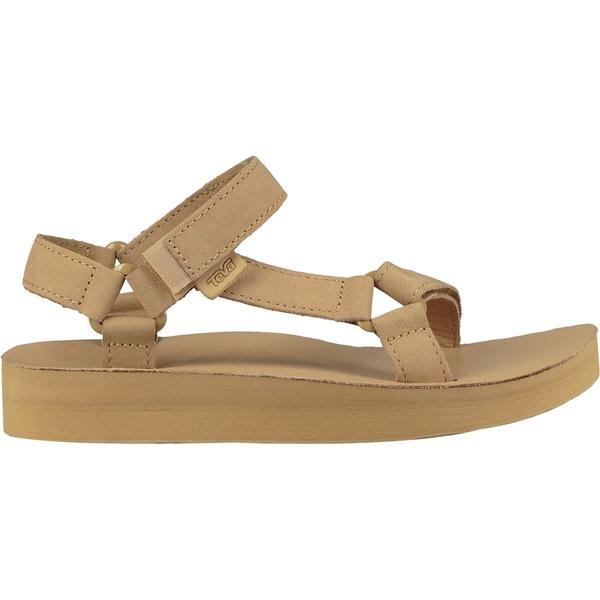 テバ レディース サンダル シューズ Midform Universal Leather Sandal - Women's Desert Sand