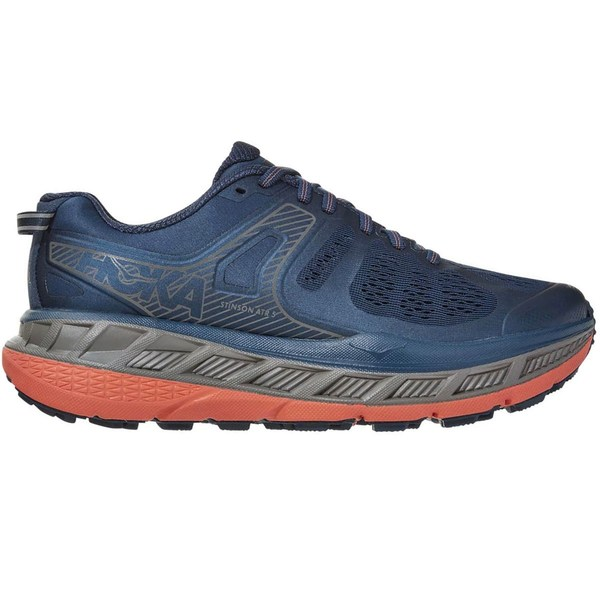 ホッカオネオネ レディース ランニング スポーツ Stinson ATR 5 Trail Running Shoe - Women's Majolica Blue/Fusion Coral