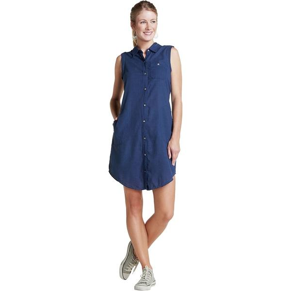 ドード アンドコー レディース ワンピース トップス Indigo Ridge Sleeveless Dress - Women's Dark Indigo Solid
