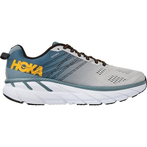 ホッカオネオネ メンズ ランニング スポーツ Clifton 6 Running Shoe - Men's Lead/Lunar Rock