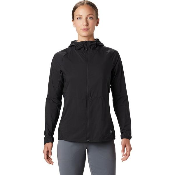 マウンテンハードウェア レディース ジャケット&ブルゾン アウター Kor Preshell Hooded Jacket - Women's Black