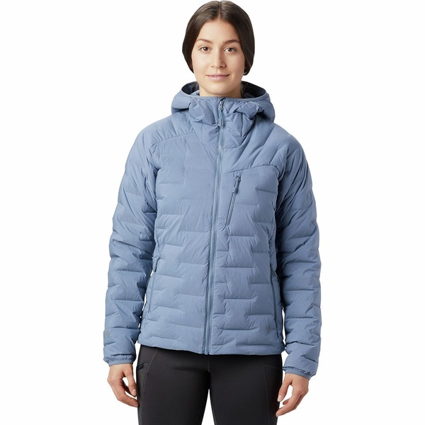 マウンテンハードウェア レディース ジャケット&ブルゾン アウター Super DS Stretchdown Hooded Jacket - Women's Light Zinc
