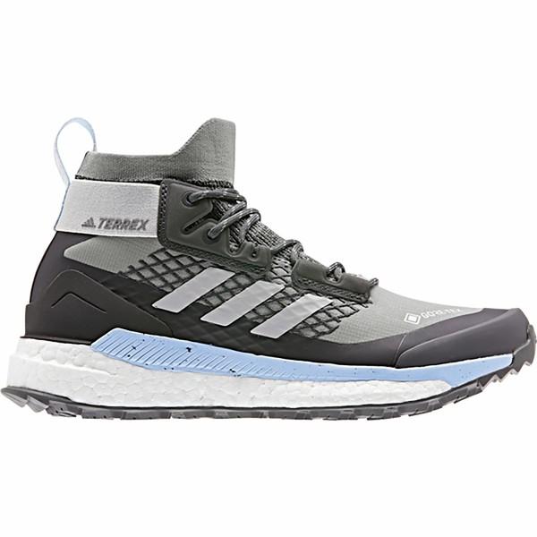 アディダス アウトドア レディース ハイキング スポーツ Terrex Free Hiker GTX Hiking Boot - Women's Ch Solid Grey/Grey Two/Glow Blue