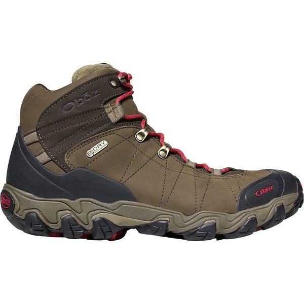 オボズ メンズ ハイキング スポーツ Bridger Mid B-Dry Hiking Boot - Men's Olive:asty