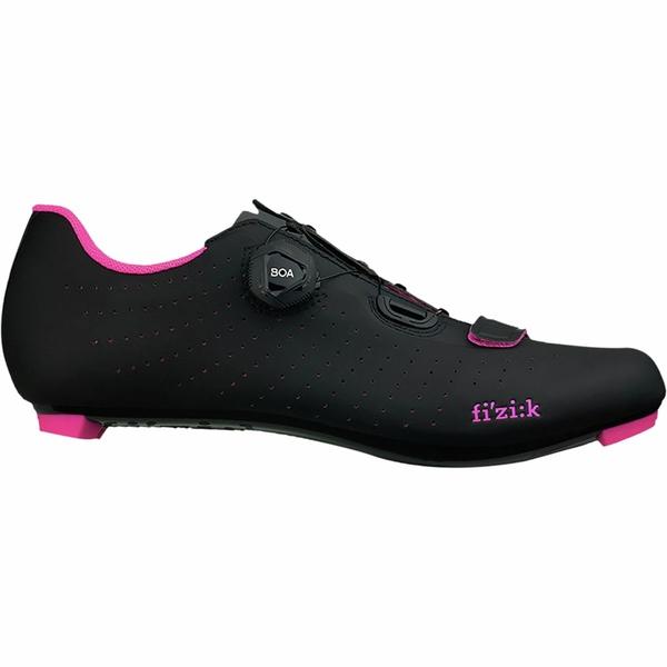 フィジーク レディース サイクリング スポーツ Tempo R5 Overcurve Cycling Shoe Black/Pink Fluo