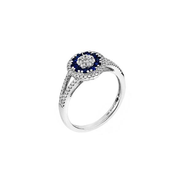 ボニー レヴィ レディース リング アクセサリー Sapphire & Diamond Ring White Gold/ Dia