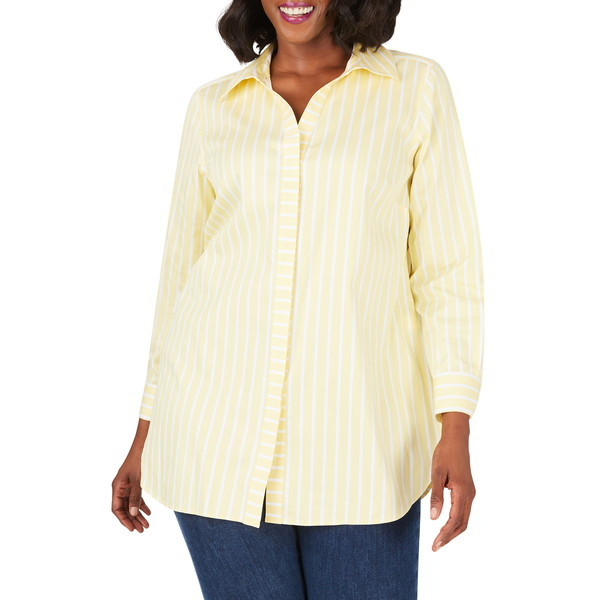 フォックスクラフト レディース シャツ トップス Vera Career Stripe Button-Up Shirt Sunbeam