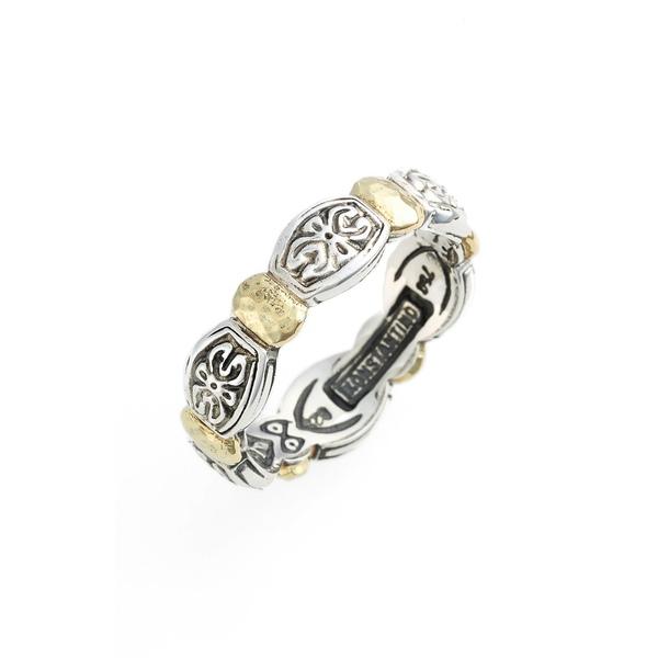 コンスタンティーノ レディース リング アクセサリー 'Aspasia' Hammered Band Ring Silver/ Gold