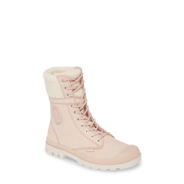 パラディウム レディース ブーツ&レインブーツ シューズ Baggy Pilot Faux Shearling Lined Boot Rose Dust Leather