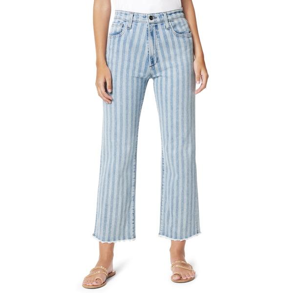 ジョーズ レディース デニムパンツ ボトムス The Blake Stripe Fray Hem Crop Jeans Two Tone