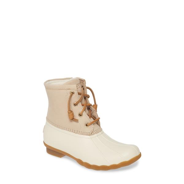 スペリー レディース ブーツ&レインブーツ シューズ Saltwater Rain Boot Ivory Leather