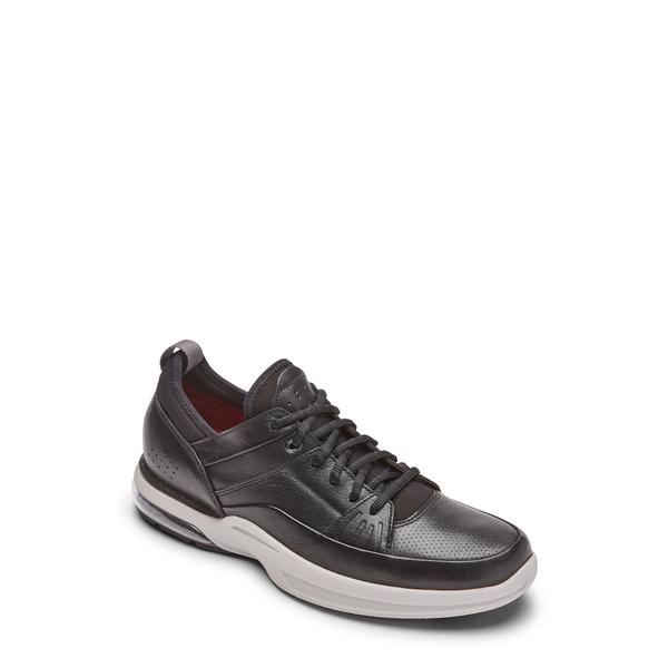 ロックポート メンズ スニーカー シューズ How Street Sneaker Black Lea