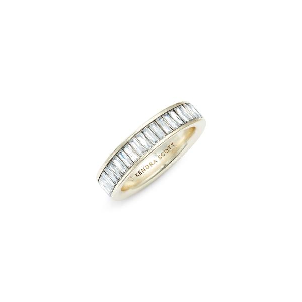 ケンドラスコット レディース リング アクセサリー Jack Band Ring Gold/ White Cz