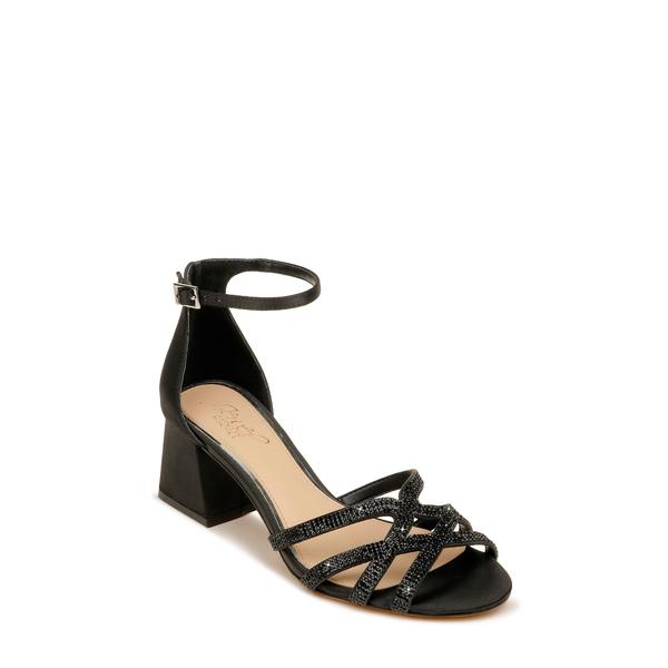 ジュウェルダグレイミシュカ レディース サンダル シューズ Fidelia Ankle Strap Sandal Black Satin