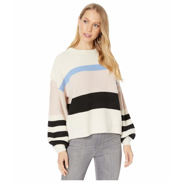 サンクチュアリー レディース ニット&セーター アウター Playful Striped Sweater Moonstone/Light Blue/Light Pearl/Black