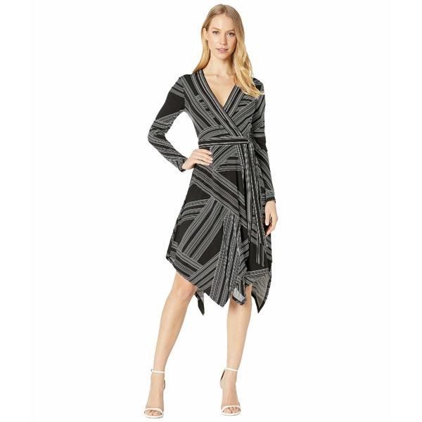 ビーシービージーマックスアズリア レディース ワンピース トップス Wrap Dress Optic White/Straight Stripe