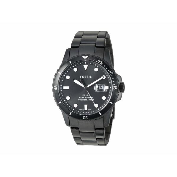 フォッシル メンズ 腕時計 アクセサリー FB-01 Three-Hand Date Men's Watch FS5659 Black Stainless Steel